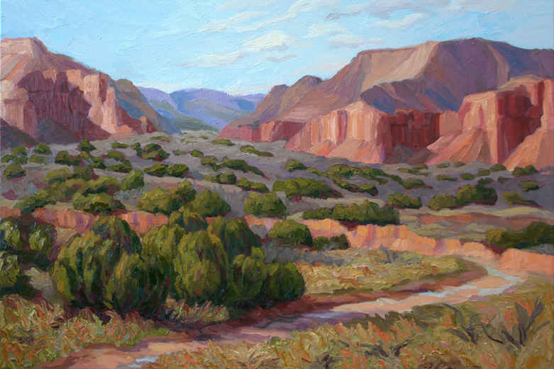 Caprock Canyon in Winter, 24 x 36, oil on panel