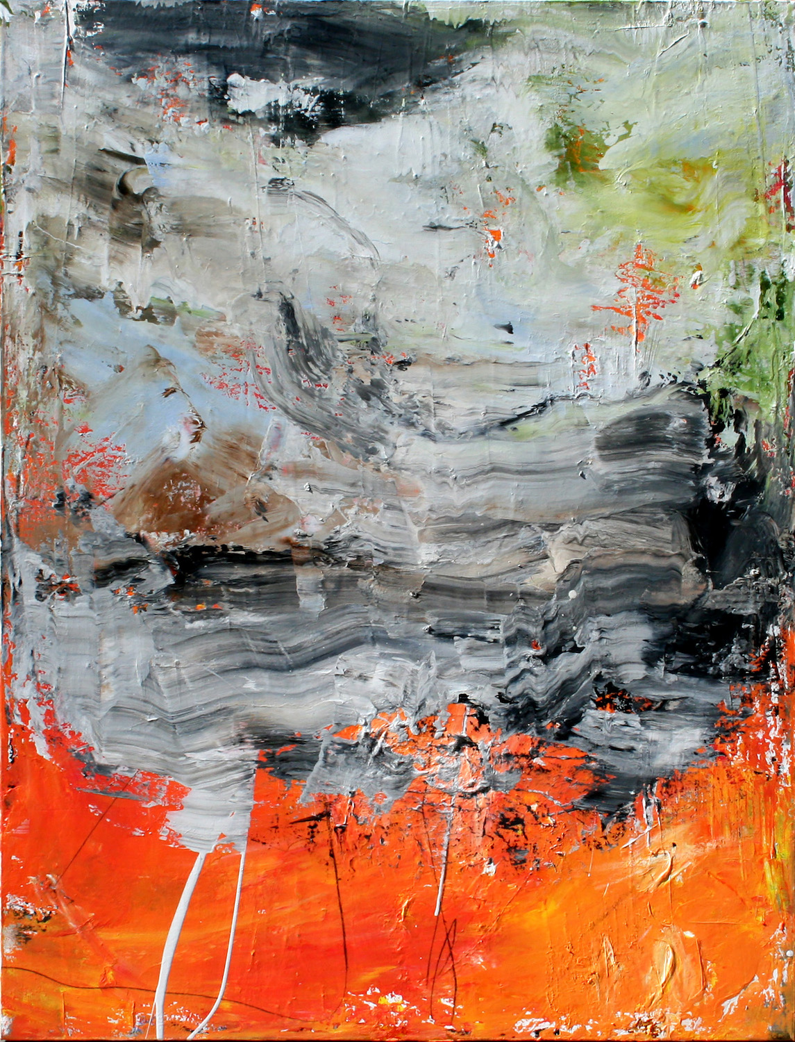 Untitled, 48 x 36, mixed media on canvas
