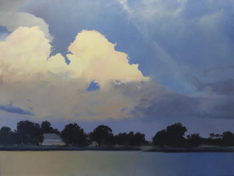 Key West Dusk, 36 x 48, oil on canvas
