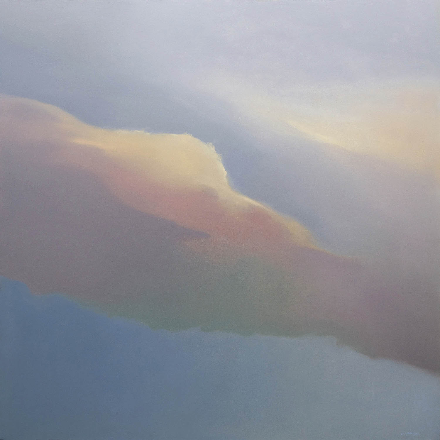 Two Clouds, 36 x 36, oil on canvas