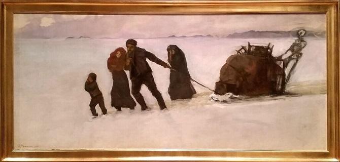 """Oscar Parviainen """"Häädetyt"""", 1910."""