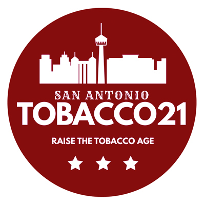 T21    PASSES    January 2018  San Antonio becomes the first city in Texas to raise the minimum legal sale age of tobacco products to 21 years old