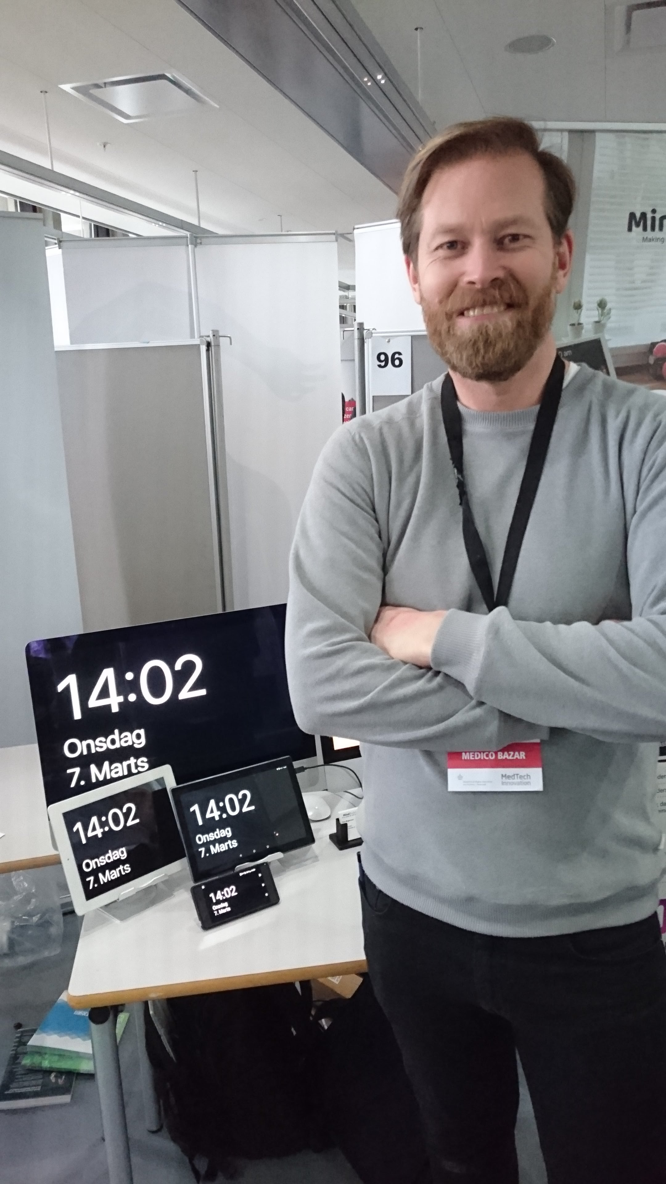 Medico Bazar at Danish Technical University /DTU 2018 - this was the first time MemoClock was shown to the public.
