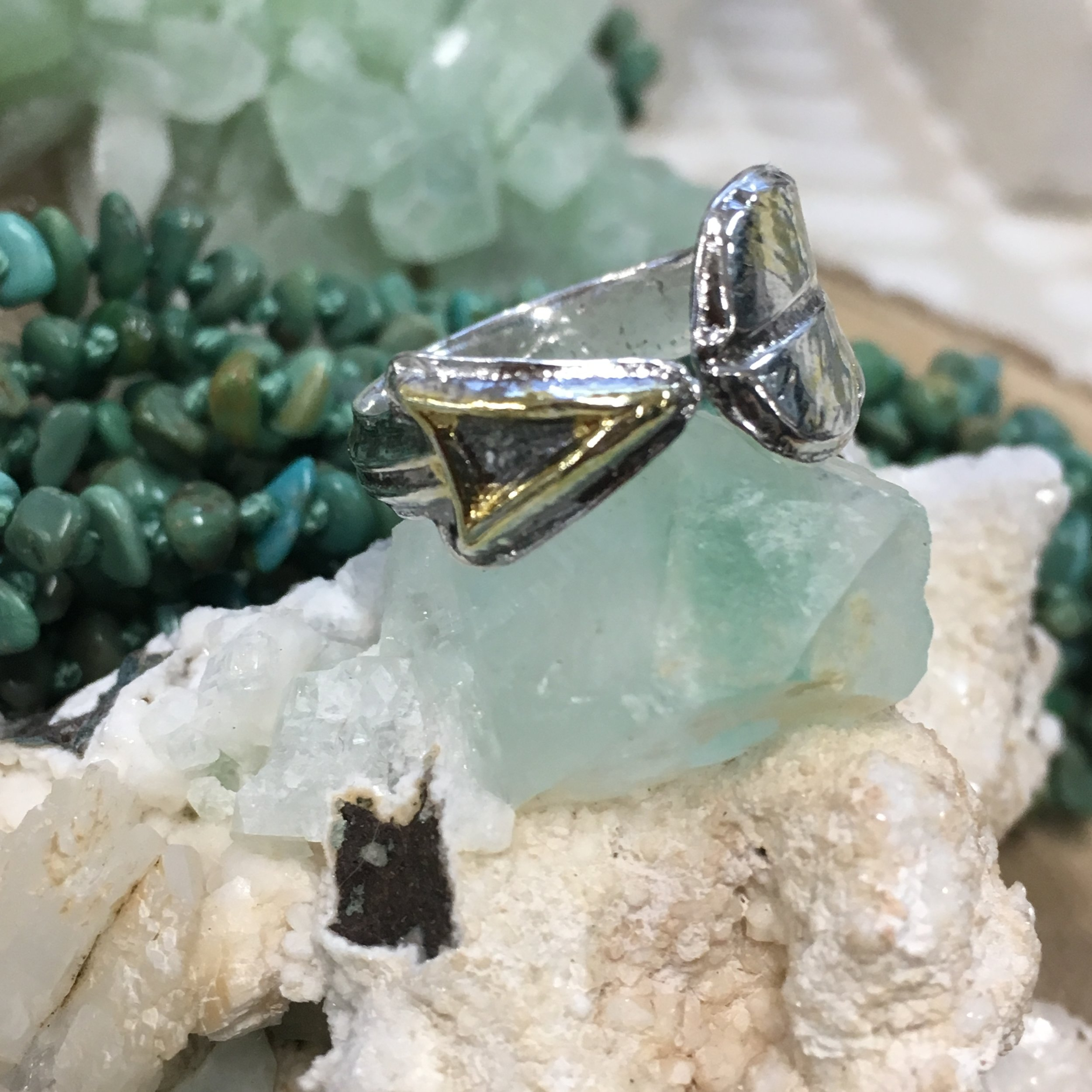 Arrow Ring with 22k Gold Overlay — Milagros Collection