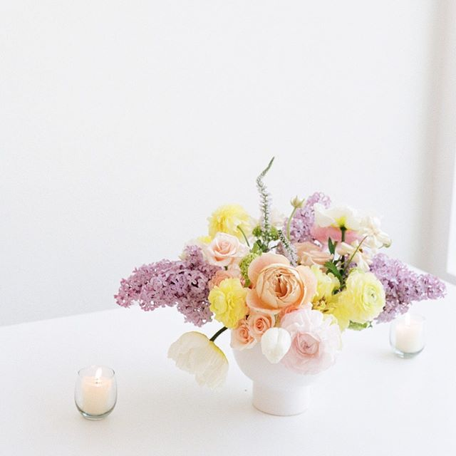 These days are quiet but filled with preparation for my upcoming July and August weddings. I can't wait to see all of the months of hard work come together in some gorgeous wedding designs. Hope you all have a great Tuesday!⁣ ⁣ Flowers arranged by me for a sweet little baby shower, shot on my 35mm and scanned by @photovisionprints.