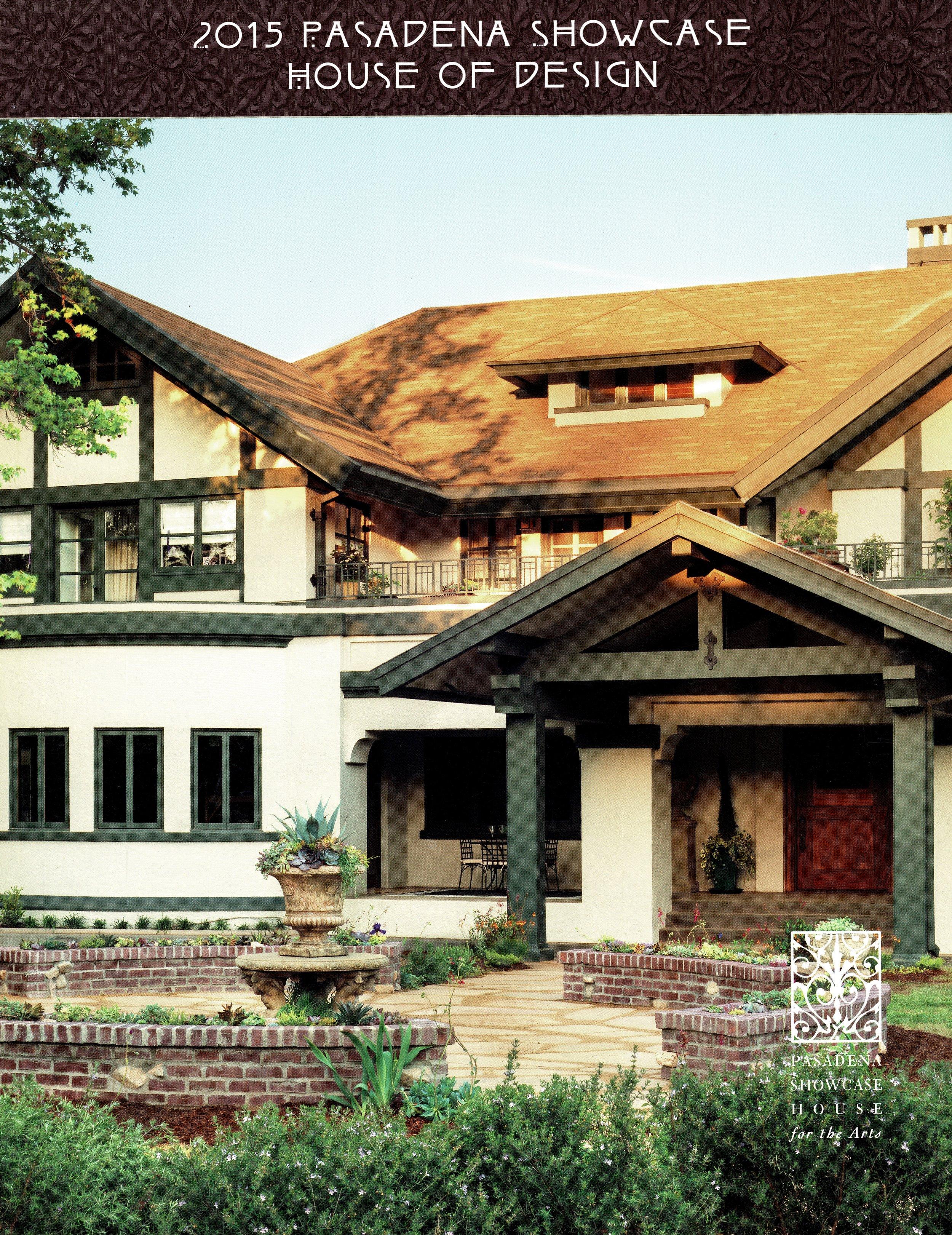 PASADENA SHOWCASE    HOUSE 2015