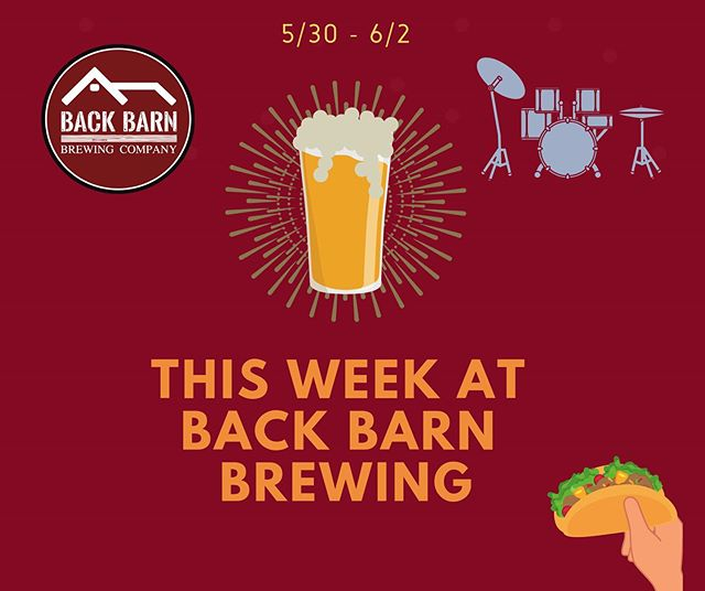 This week at Back Barn Brewing Co.  It's the end of May 😮  Pop in for mid-week tipple.  Open today 4-8pm  Thursday 3-9pm  Friday 12-10pm with music from Mike Herman from 6pm  Saturday 12-10pm with music from EJRay Acoustic at 6pm  Sunday 12-6 with Buena Comida providing the food. 🍺  #craftbeer #brewery #brew #drinklocal #beerstagram #beerlover