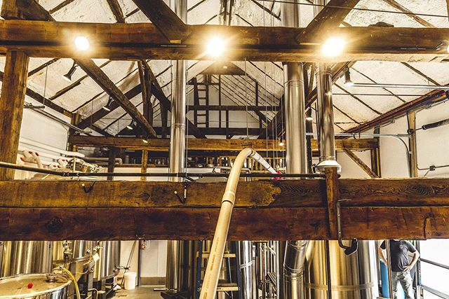 Where the magic happens 🍻  Come see us today 3-9pm  #brewery #barns #postandbeam #woodlovers #beer #brew #drinklocal