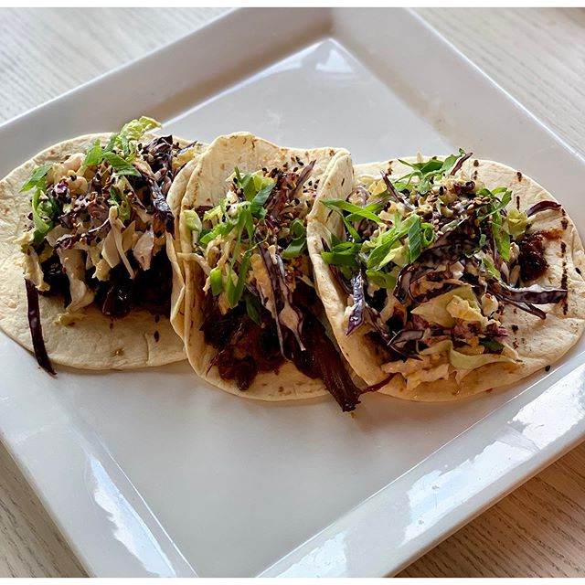 NEW MENU ITEMS 🚨 We've added some new (and old) menu items to kick off the fall season! More new additions coming soon 😋 • Korean BBQ Short Rib Tacos: braised short rib, wasabi slaw, toasted sesame seeds, scallions BBQ Chicken Flatbread: pulled chicken, BBQ sauce, cheddar cheese, red onion, roasted corn, ranch drizzle Chicken Pot Pie: classic chicken pot pie, mashed potatoes, cranberry sauce • Open 7 days a week 11am-10pm 🙌🏼 Come down and let us know what you think!
