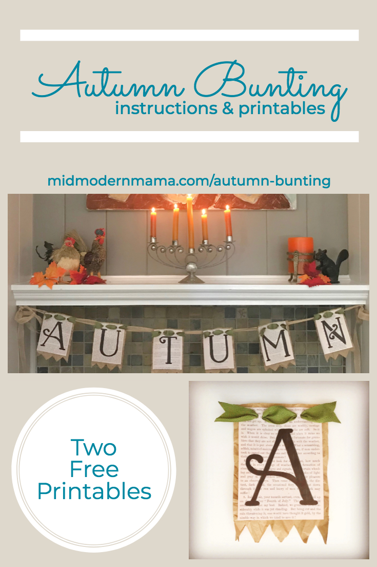 DIY Autumn Bunting