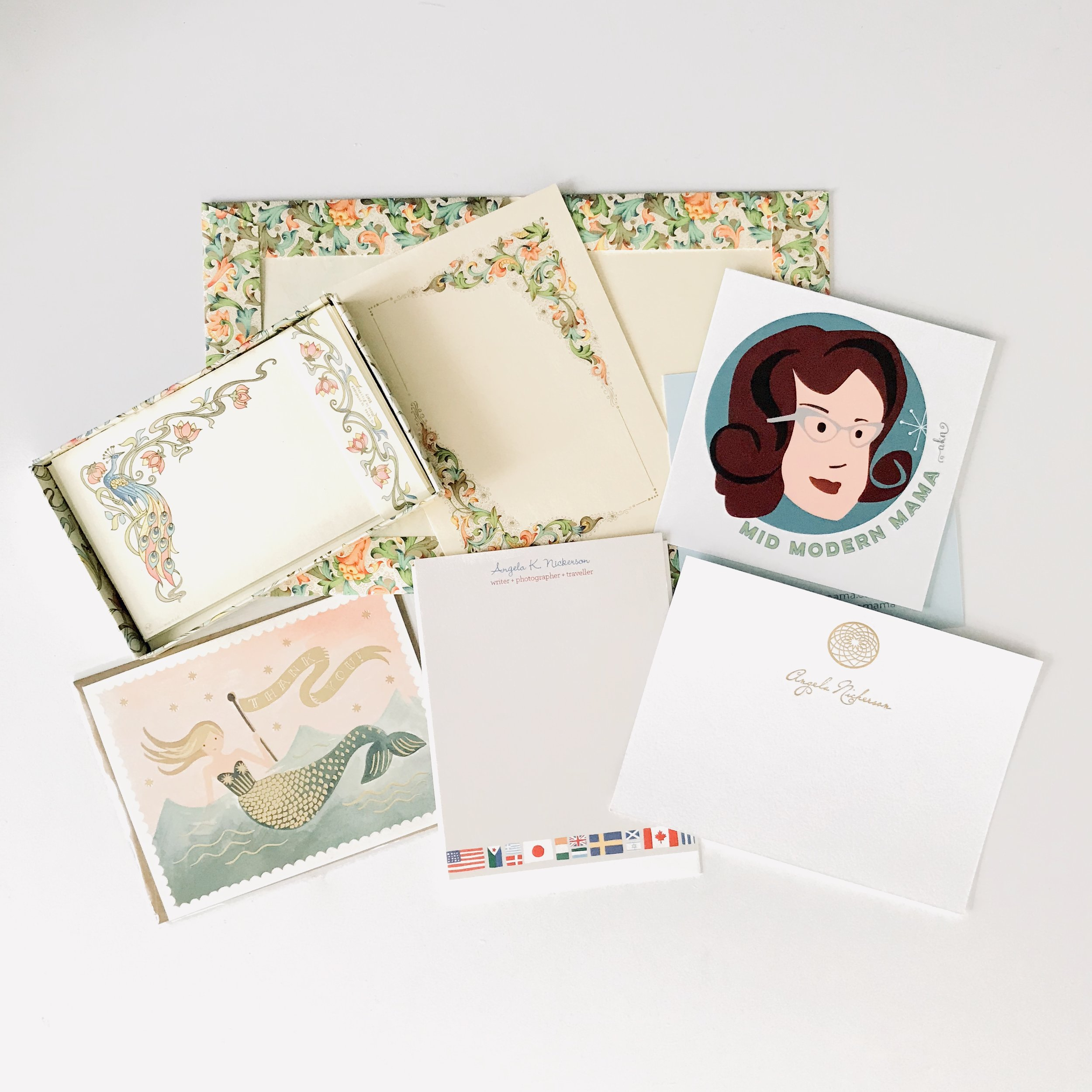 Some of my favorite stationery for thank you notes