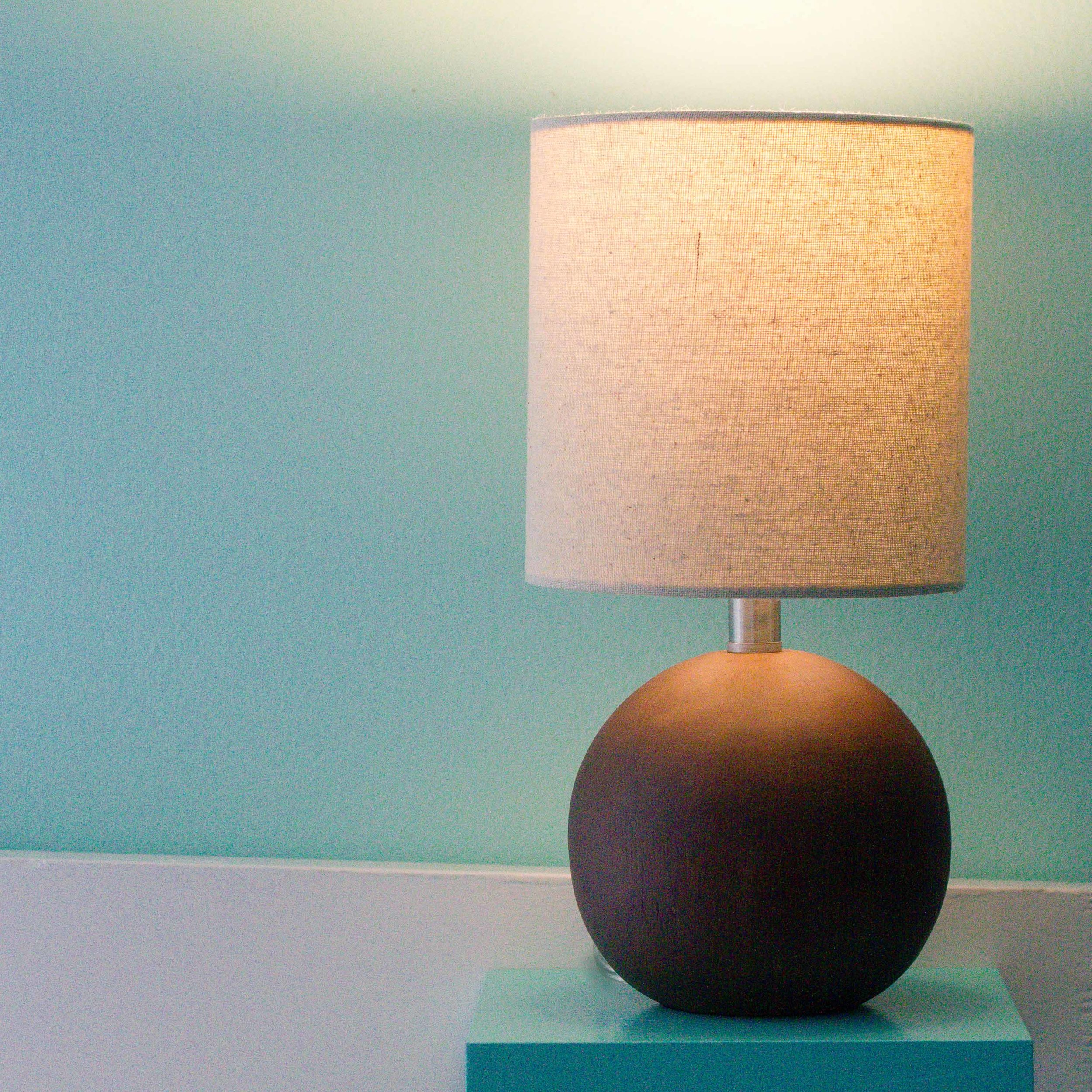 Threshold - Faux Wood Table Lamp Brown