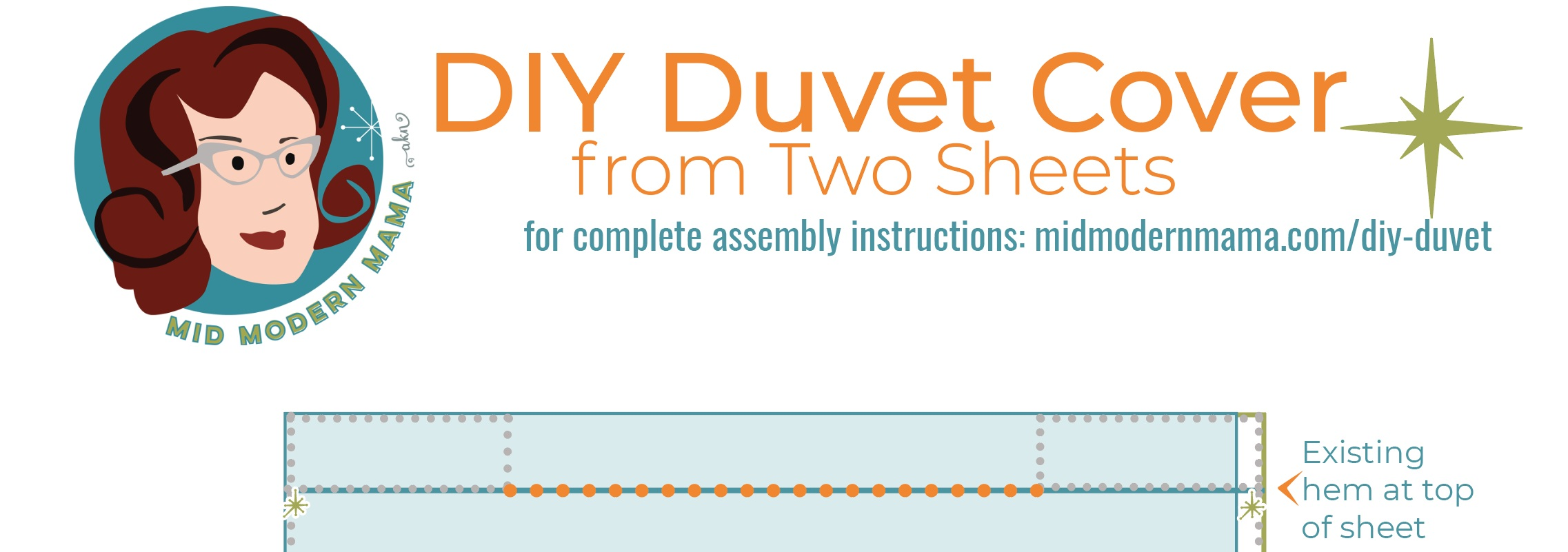 Sign up to download this diagram which will help you as you put together your duvet cover in any size.