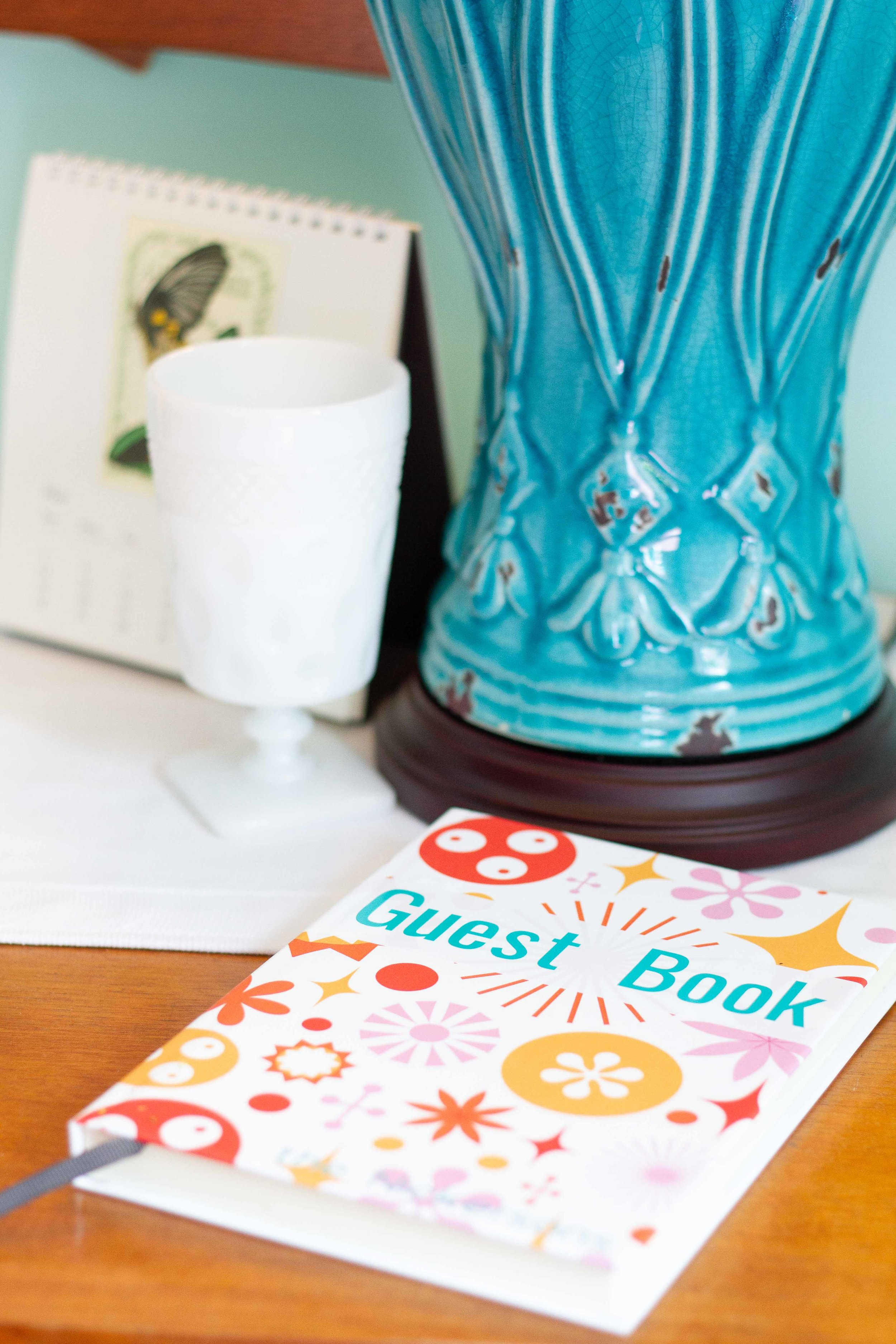 A blank book became a guest book with the help of my Cricut.