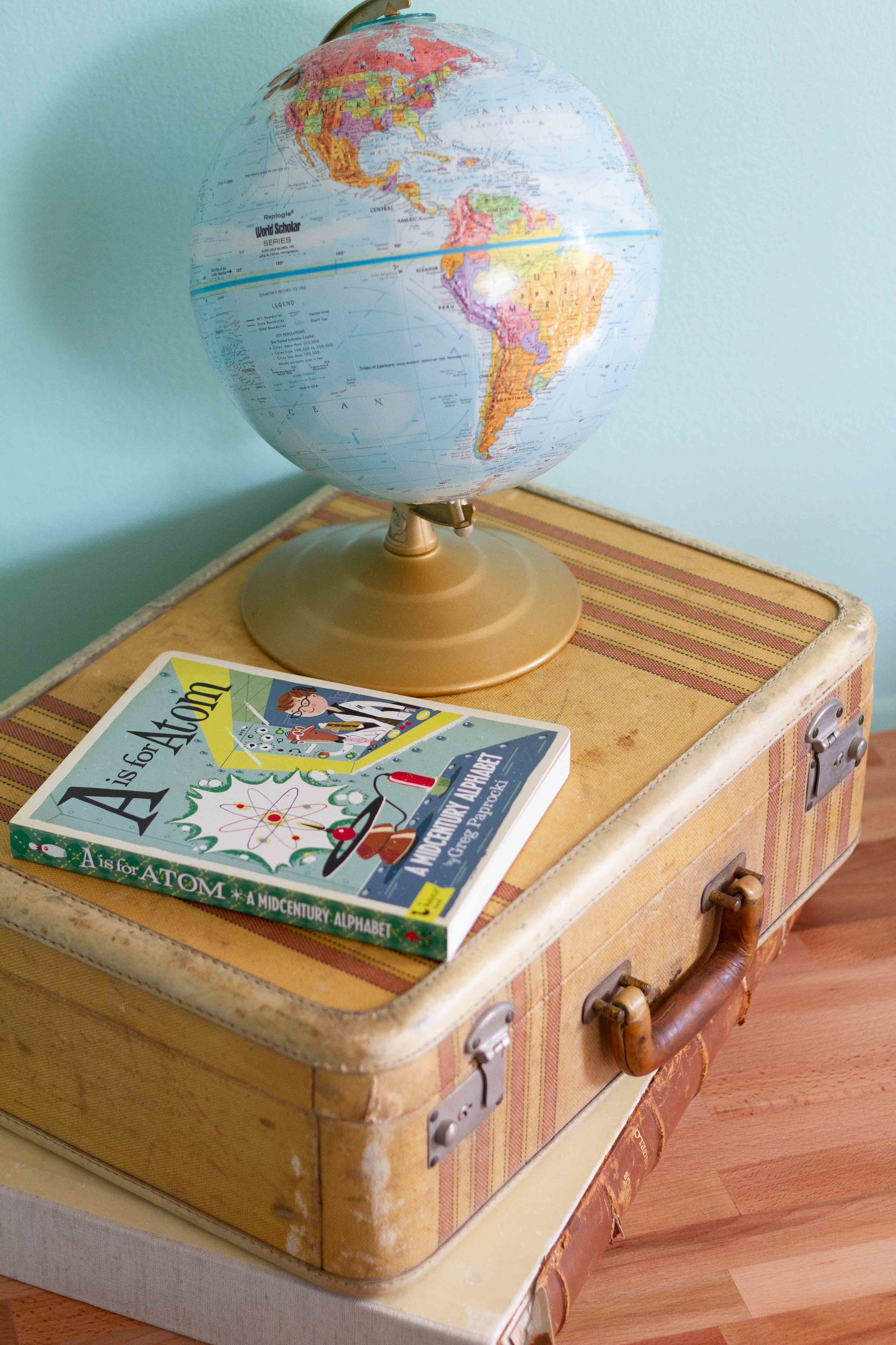 A midcentury alphabet book? Yes, please! Perfect atop my grandfather's suitcase.