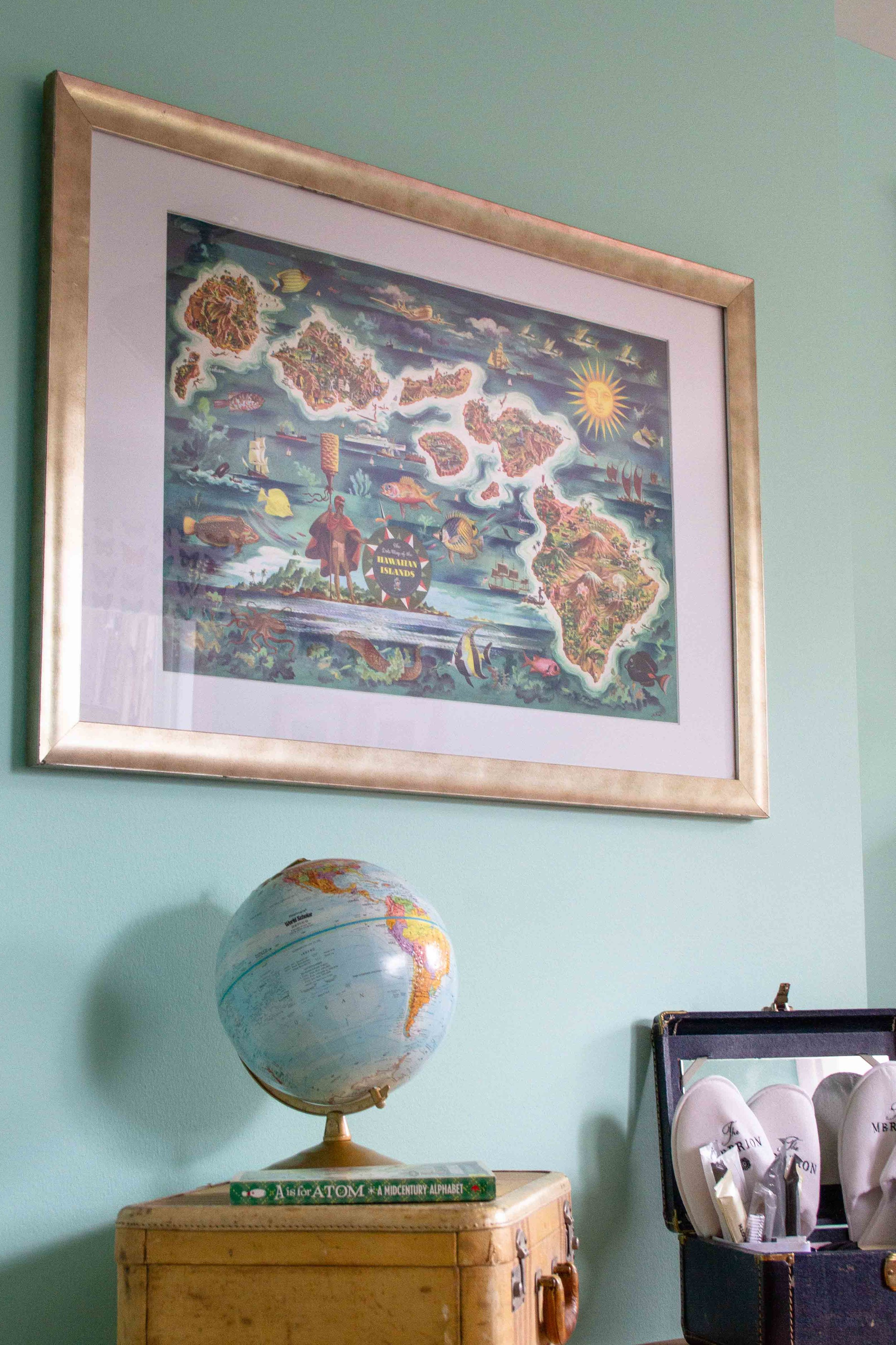 The inspiration piece — matted and framed in a place of honor.