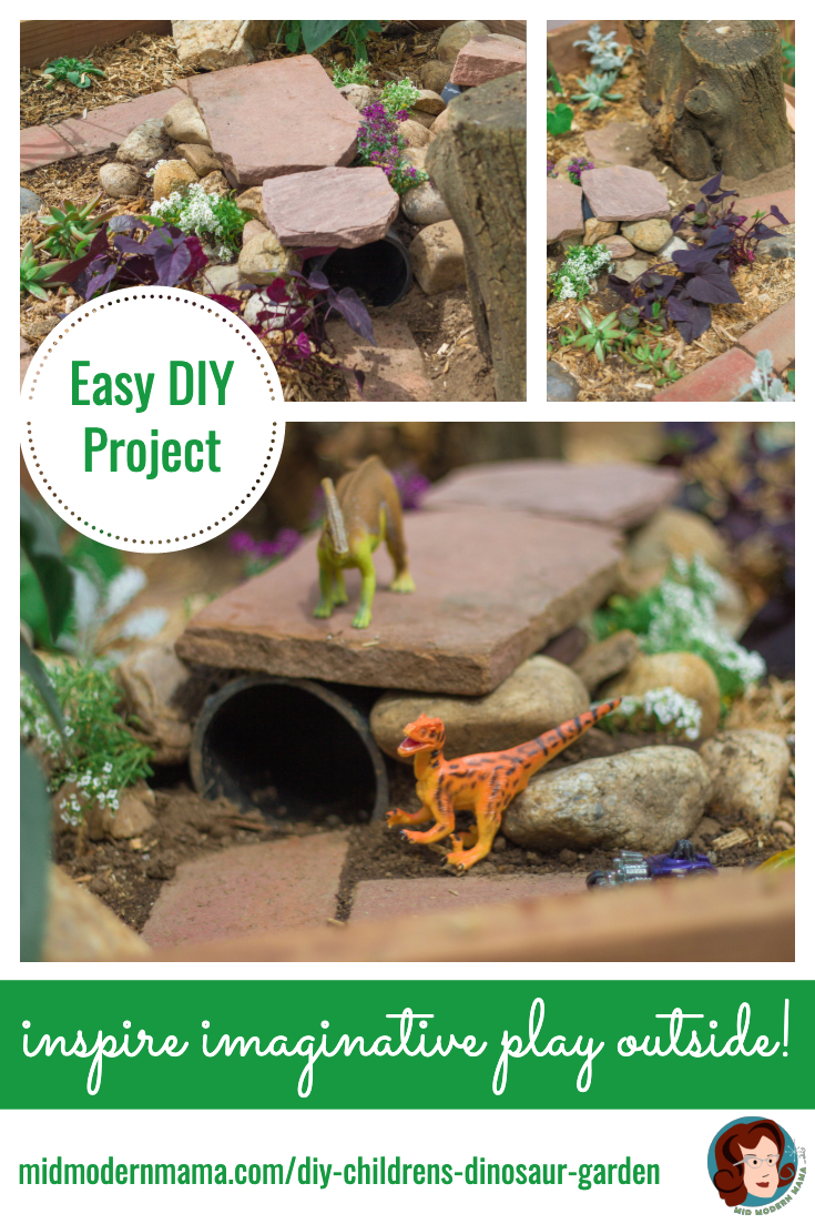 Create an outdoor place where your child can play and garden, too. Call it a Dinosaur Garden, Fairy Garden, or just a great play area, this easy DIY project is full of backyard ideas. Perfect for patios or small yards, this project can be as small or as large as you want. And kids will love to dig, plant, and create in their own special gardening space. Also: vegetables, flowers, toys, pots.