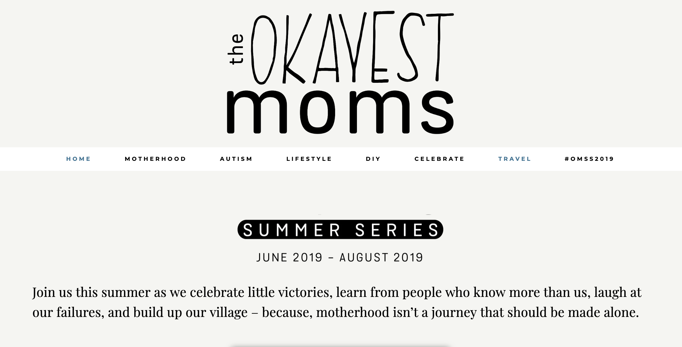 Okayest Moms - Summer Series 2019