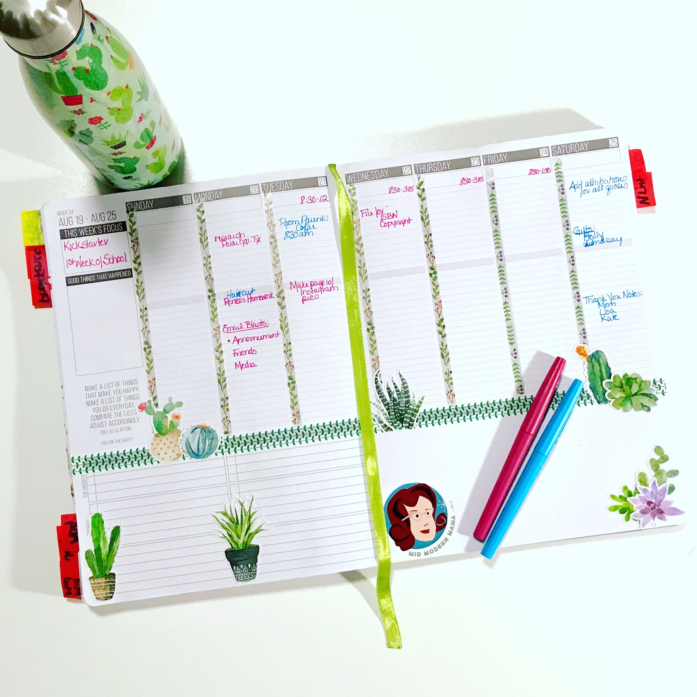 Tips and ideas for how to use a planner with Passion Planner examples for Moms, men, work, school, and students.