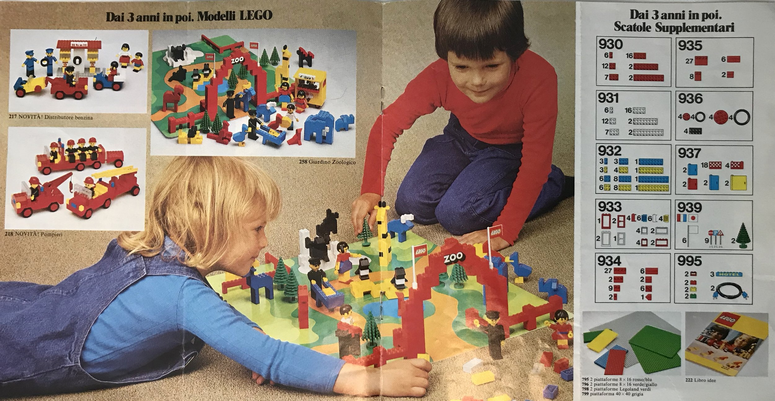 Lego advertising from 1977 was gender-neutral and egalitarian.