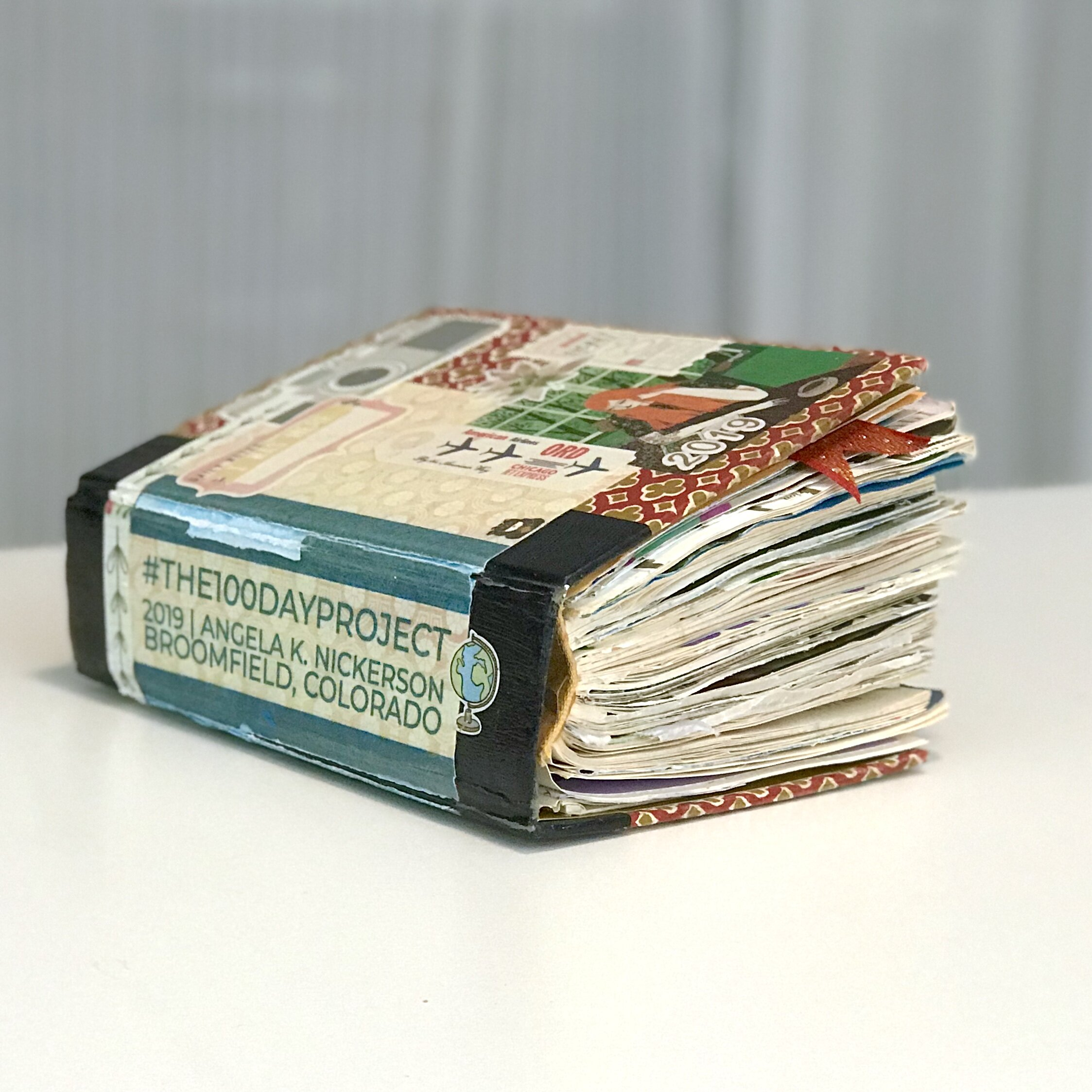 My Altered Book in its completed state. Very chunky and full.