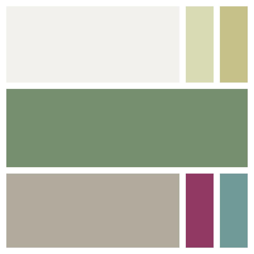 The Workroom Makeover color palette