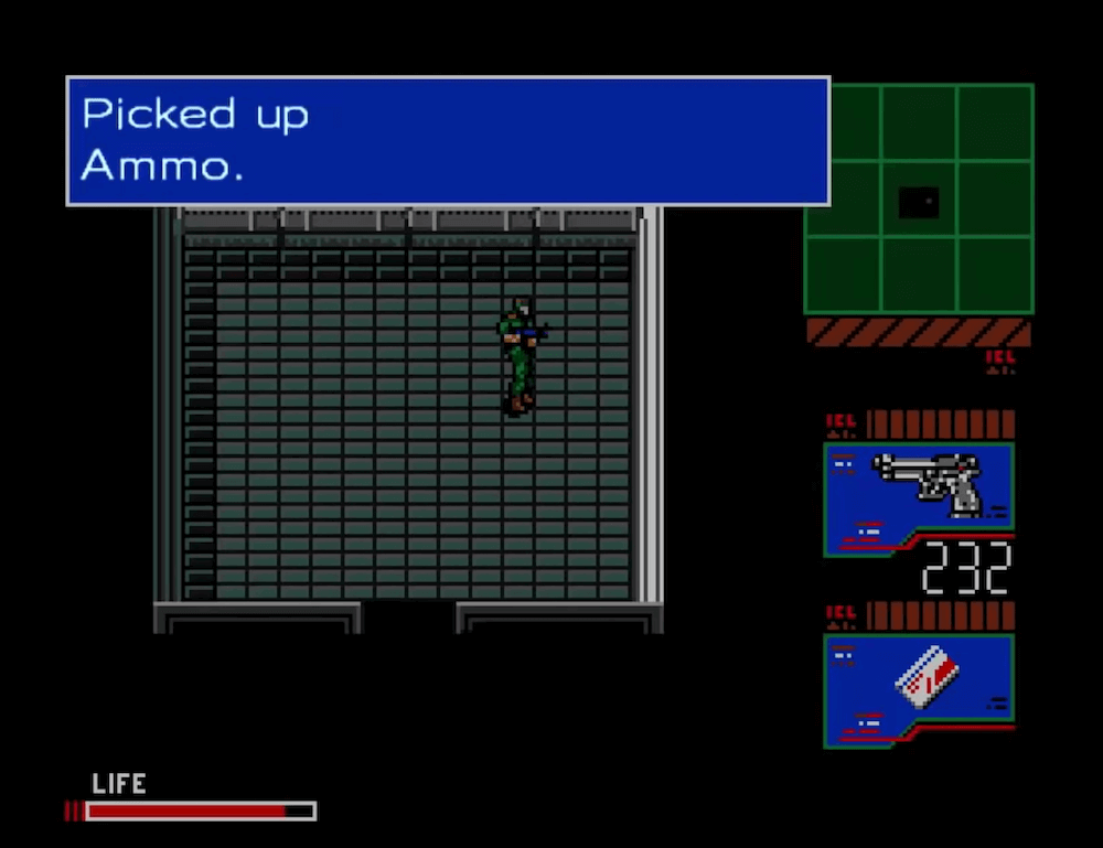 Metal Gear 2: Solid Snake for the MSX2 (Copyright owned by Konami)