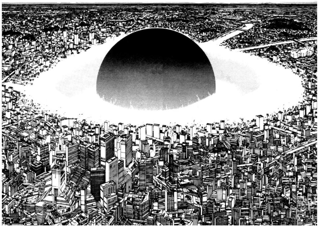 Akira (1982-1990), art by Katsuhiro Otomo