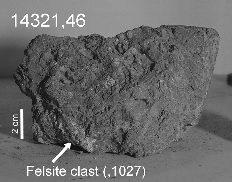 The rock crystallized about 20 kilometers beneath Earth's surface 4.0-4.1 billion years ago. It was then excavated by one or more large impact events and launched into space.