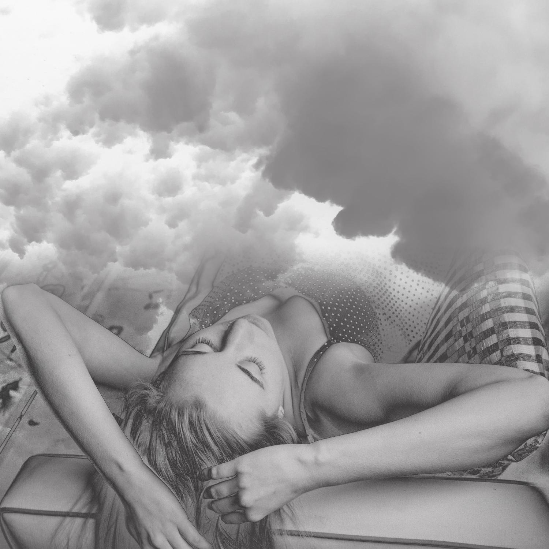 sleeping woman in clouds-bw.jpg
