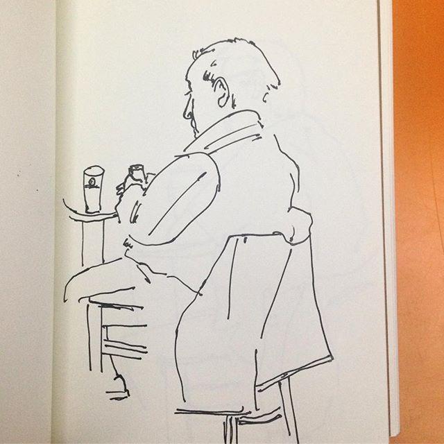 Mid-Week Drink Ink on paper.  #drawing #inkonpaper #pen #lineart #pub #beer #sketch #hull #individual #art #contemporaryart #linedrawing