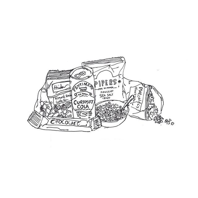 I don't just draw people you know!  Here's a commissioned drawing I did for @hideout_hotel 's goody bag.  #hideouthotel #hull #bag #pen #ink #commission