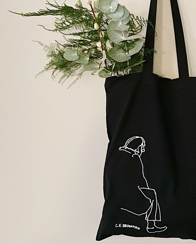 Man Tote Bag available to buy on my website £12.⠀⠀⠀⠀⠀⠀⠀⠀⠀ Organic cotton.⠀⠀⠀⠀⠀⠀⠀⠀⠀ Printed by @miscprintco