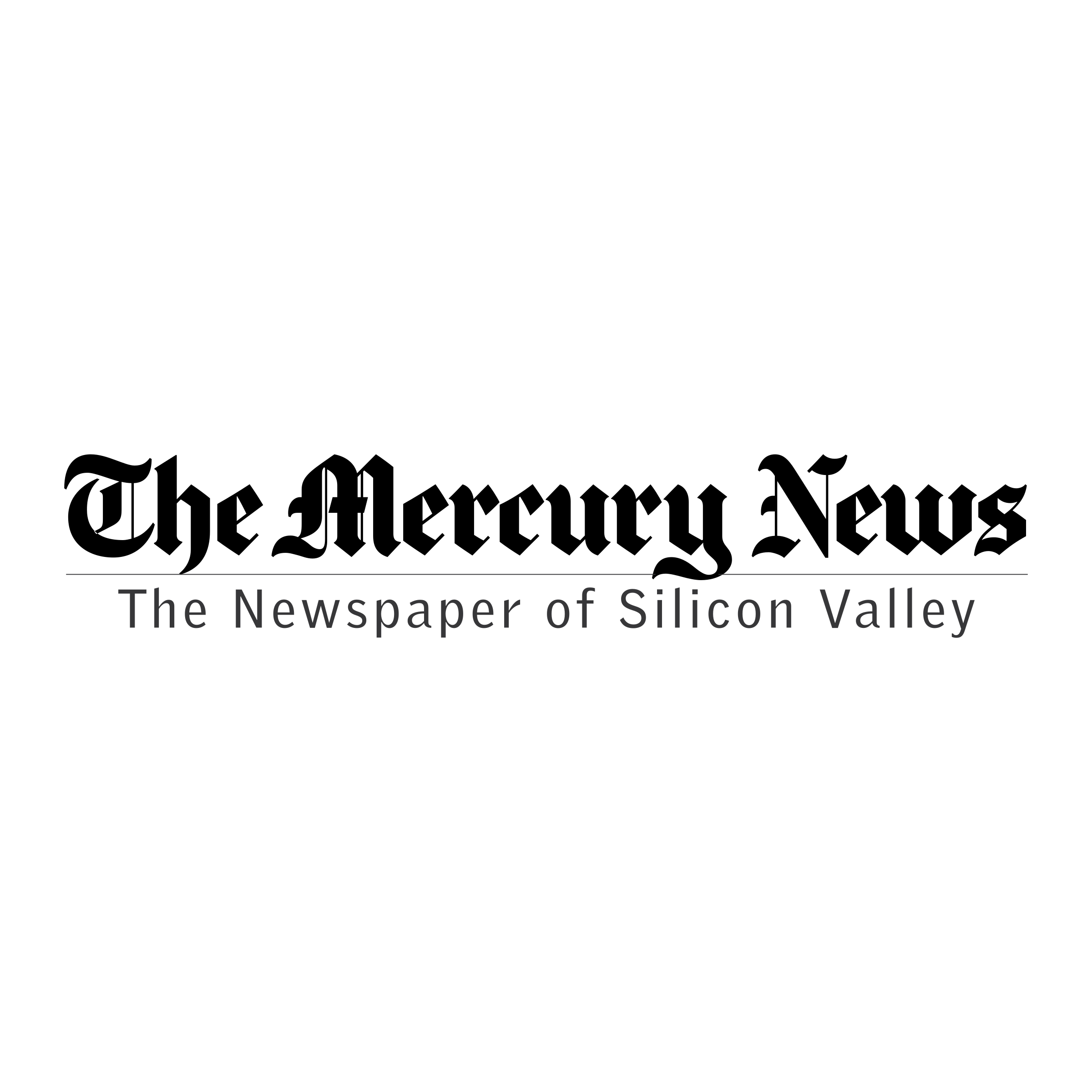 "Mercury News logo with the words ""the newspaper of silicon valley"" underneath"