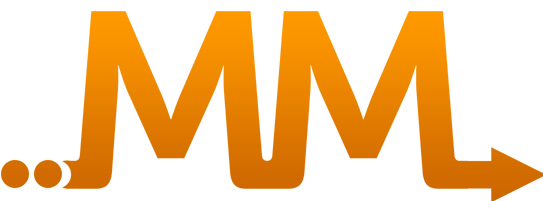 mm logo with two orange mms