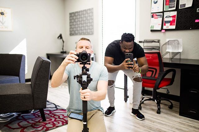 Content creation with @stevenvancauwenbergh  Tag someone who loves to be in front of the camera.  #socialmediamanagement #oklahomabusinesses #okcsmallbusinessowner #contentcreation #worksmarter