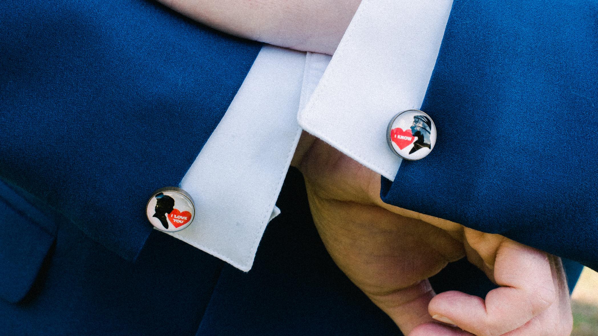 star wars wedding cufflinks