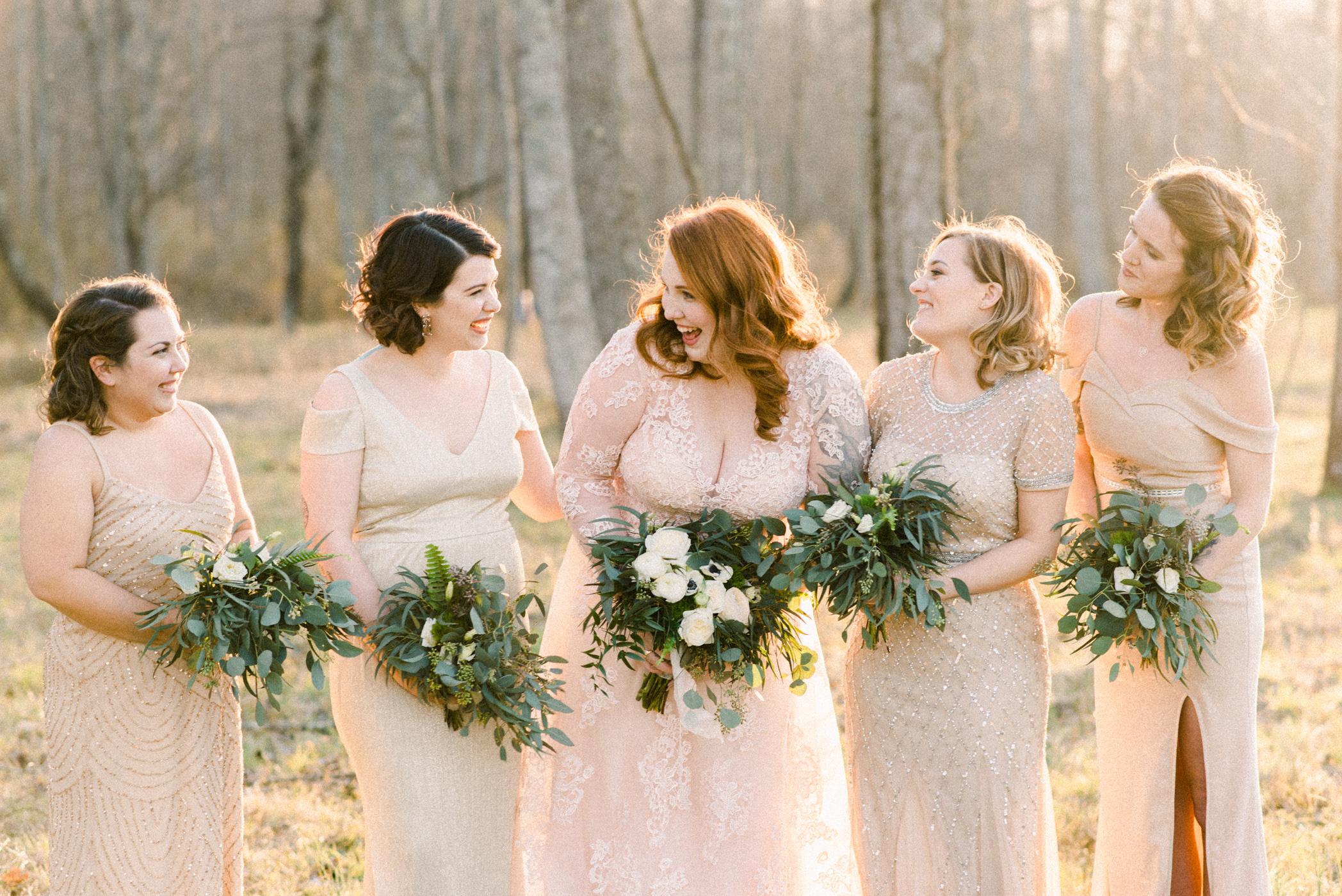 candid bridesmaids