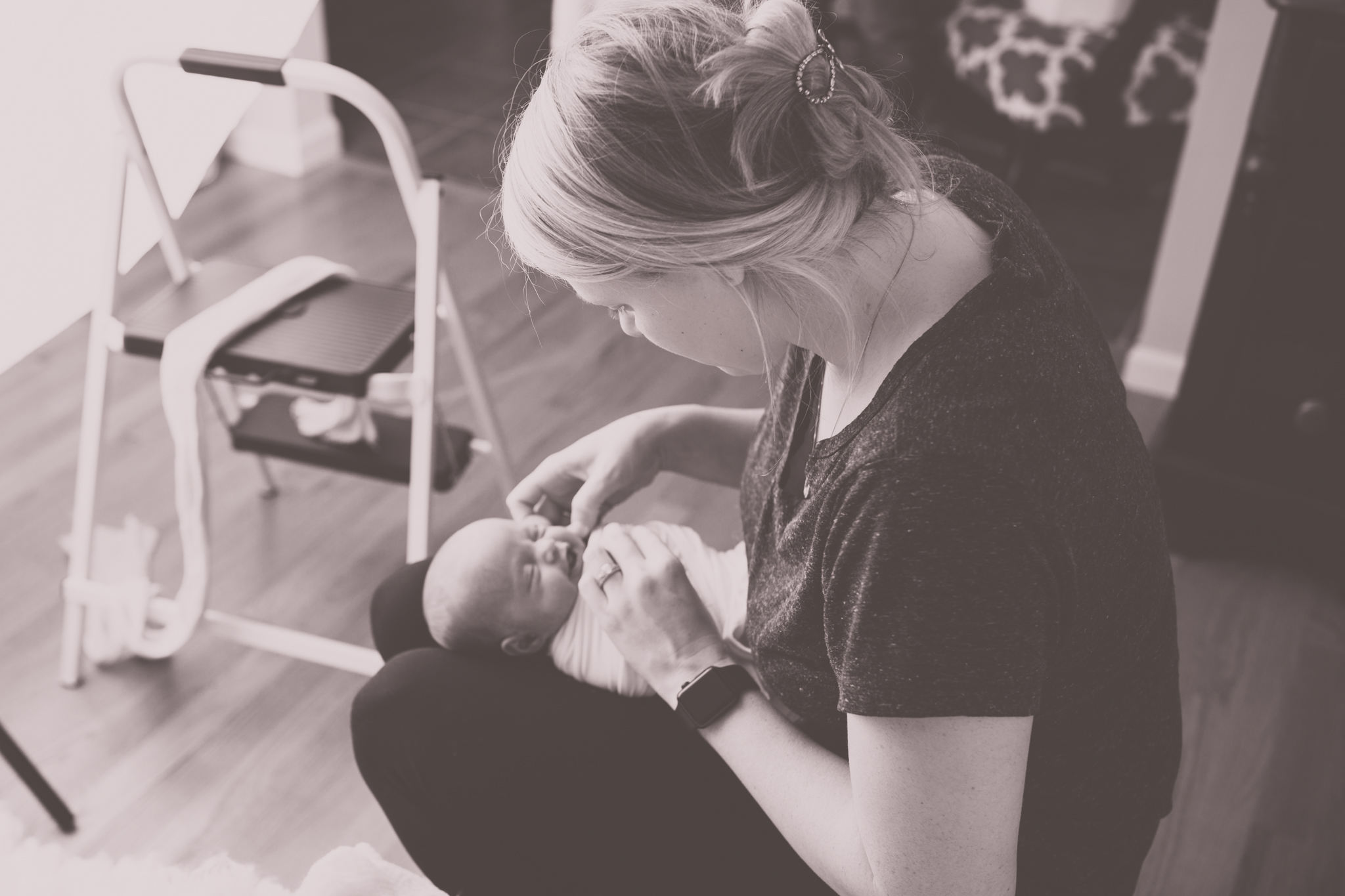 newborn Maternity winter studio lifestyle home hospital fresh 48 Session Cara Peterson Photography Rockford IL-1.jpg