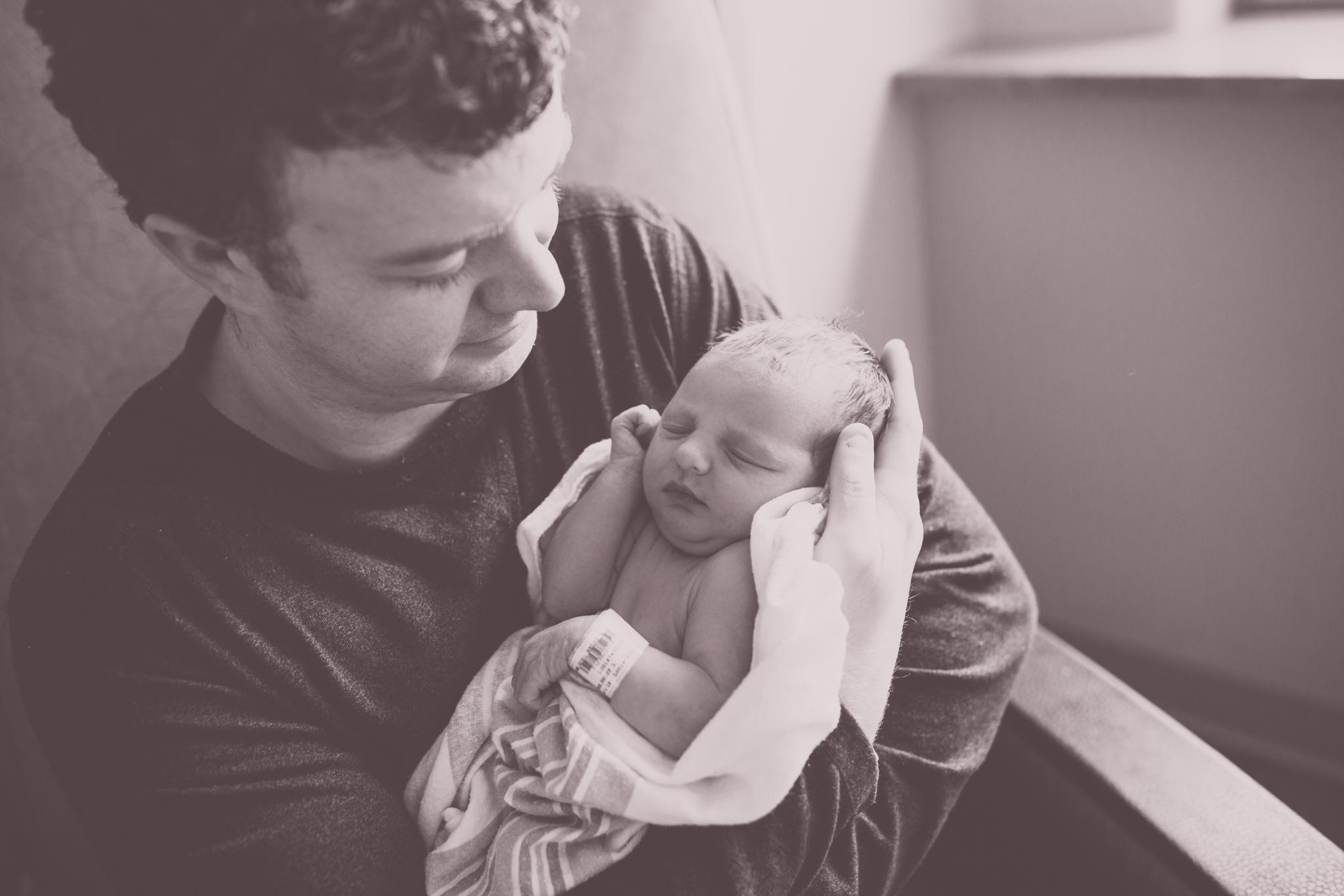 Newborn  Hospital Session Cara Peterson Photography Rockford IL-3.jpg