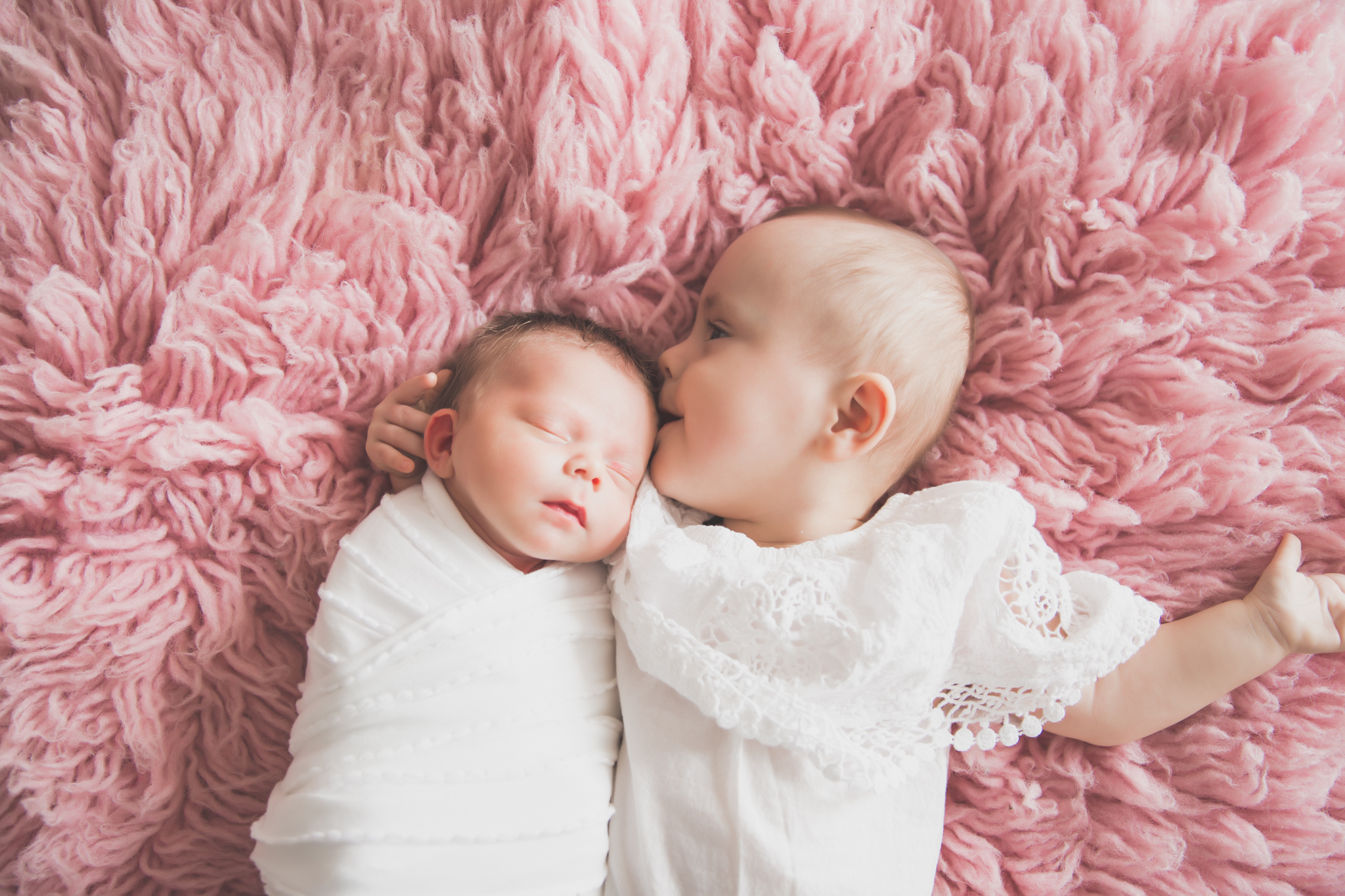 Sibling photos Newborn session photographer lifestyle studio - Cara Peterson Photography Rockford IL-3-5.jpg