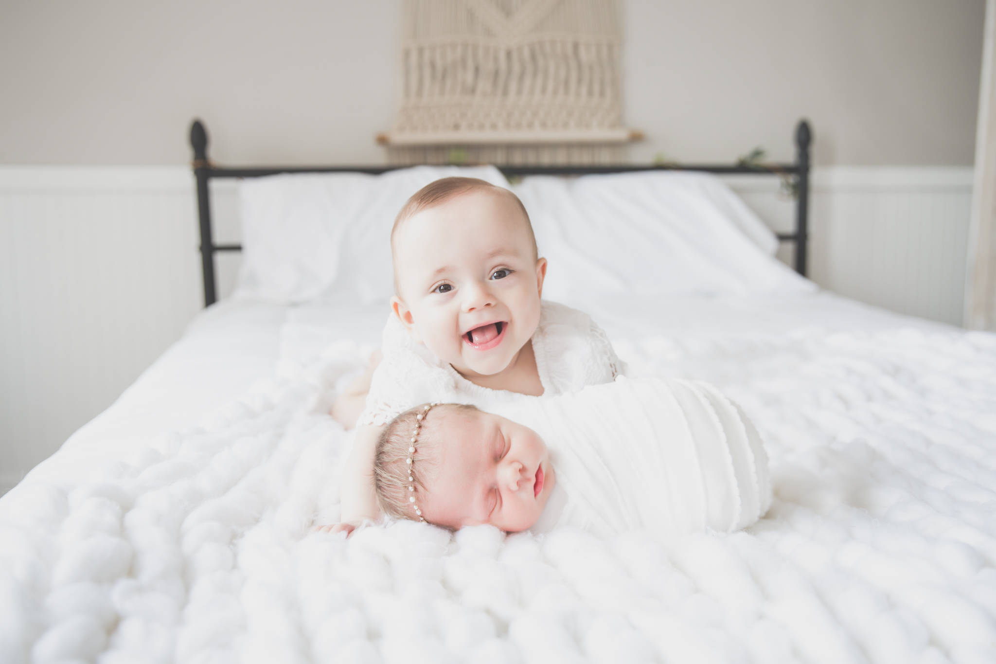 Sibling photos Newborn session photographer lifestyle studio - Cara Peterson Photography Rockford IL-4-5.jpg