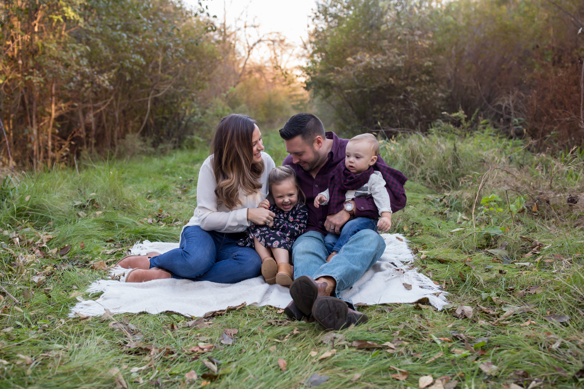 Hailey Family Fall Session, 2 kinds, family poses with young kids, Cara Peterson Photography Rockford IL-2.jpg