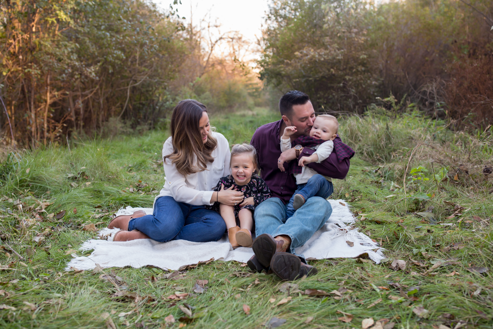 Hailey Family Fall Session, 2 kinds, family poses with young kids, Cara Peterson Photography Rockford IL-3.jpg