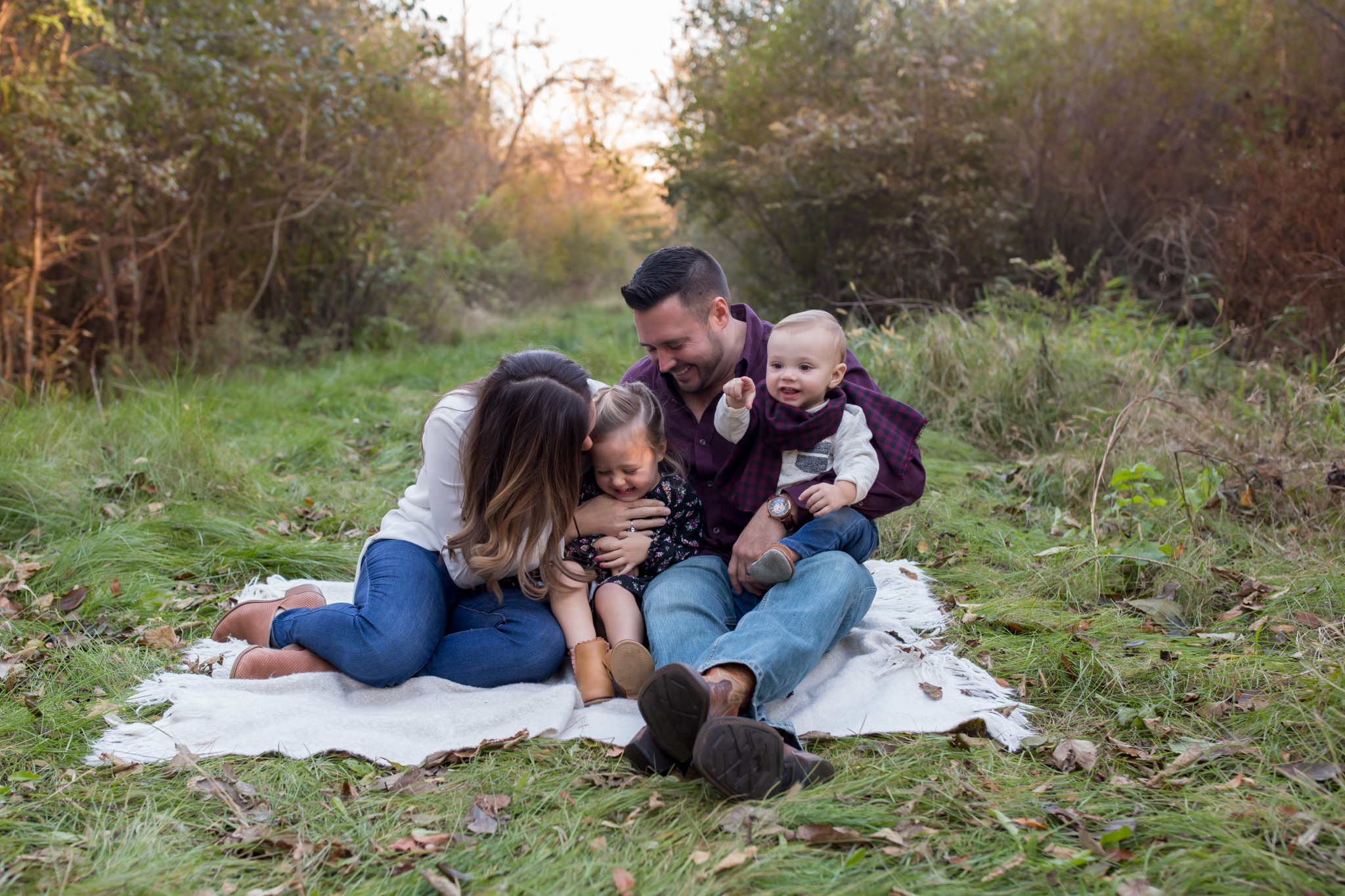 Hailey Family Fall Session, 2 kinds, family poses with young kids, Cara Peterson Photography Rockford IL-4.jpg