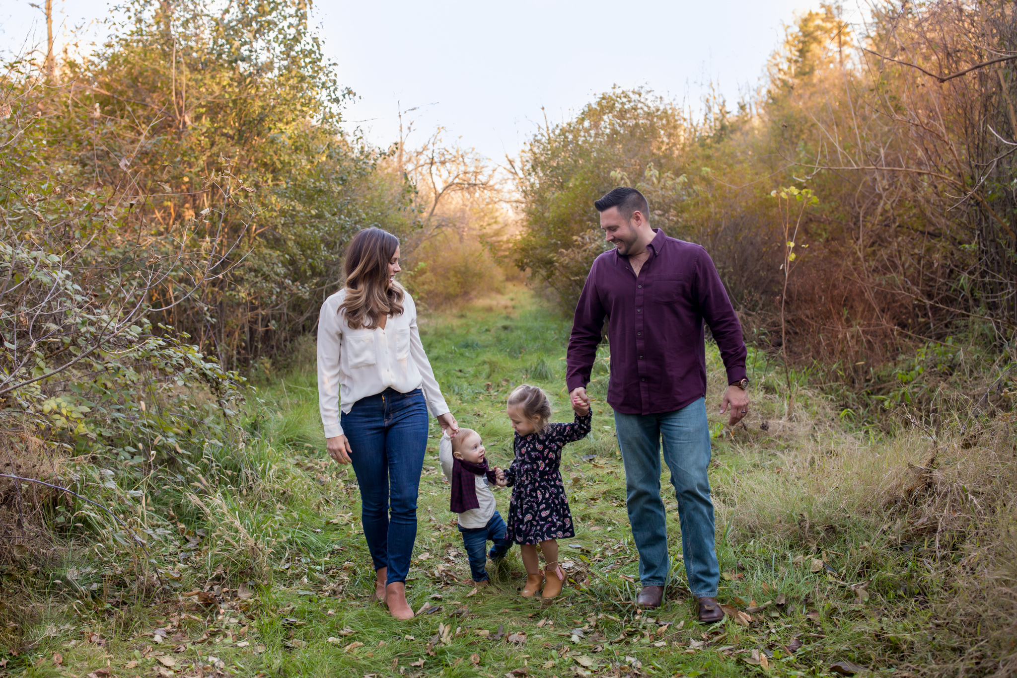 Hailey Family Fall Session, 2 kinds, family poses with young kids, Cara Peterson Photography Rockford IL-6.jpg