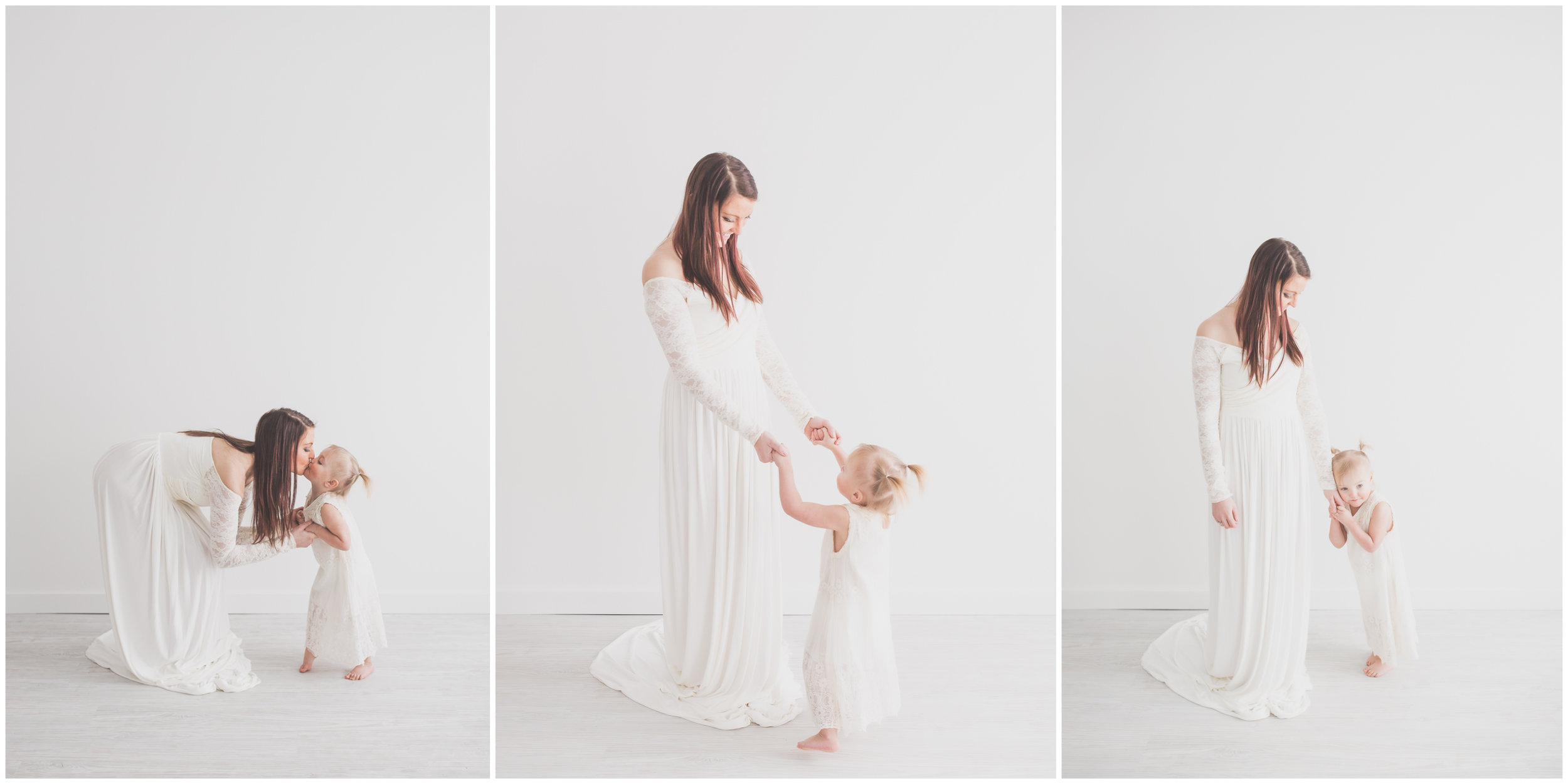 Mommy & Me Studio White Nuetral Mom and kids Cara Peterson Photography Rockford IL .jpg