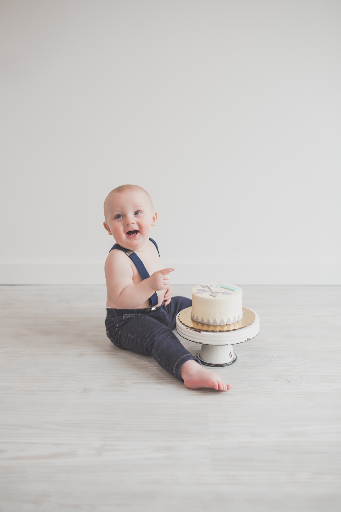 Cade 1 Year Old Cake Smash Milestone Session Cara Peterson Photography Rockford IL -20-2.jpg