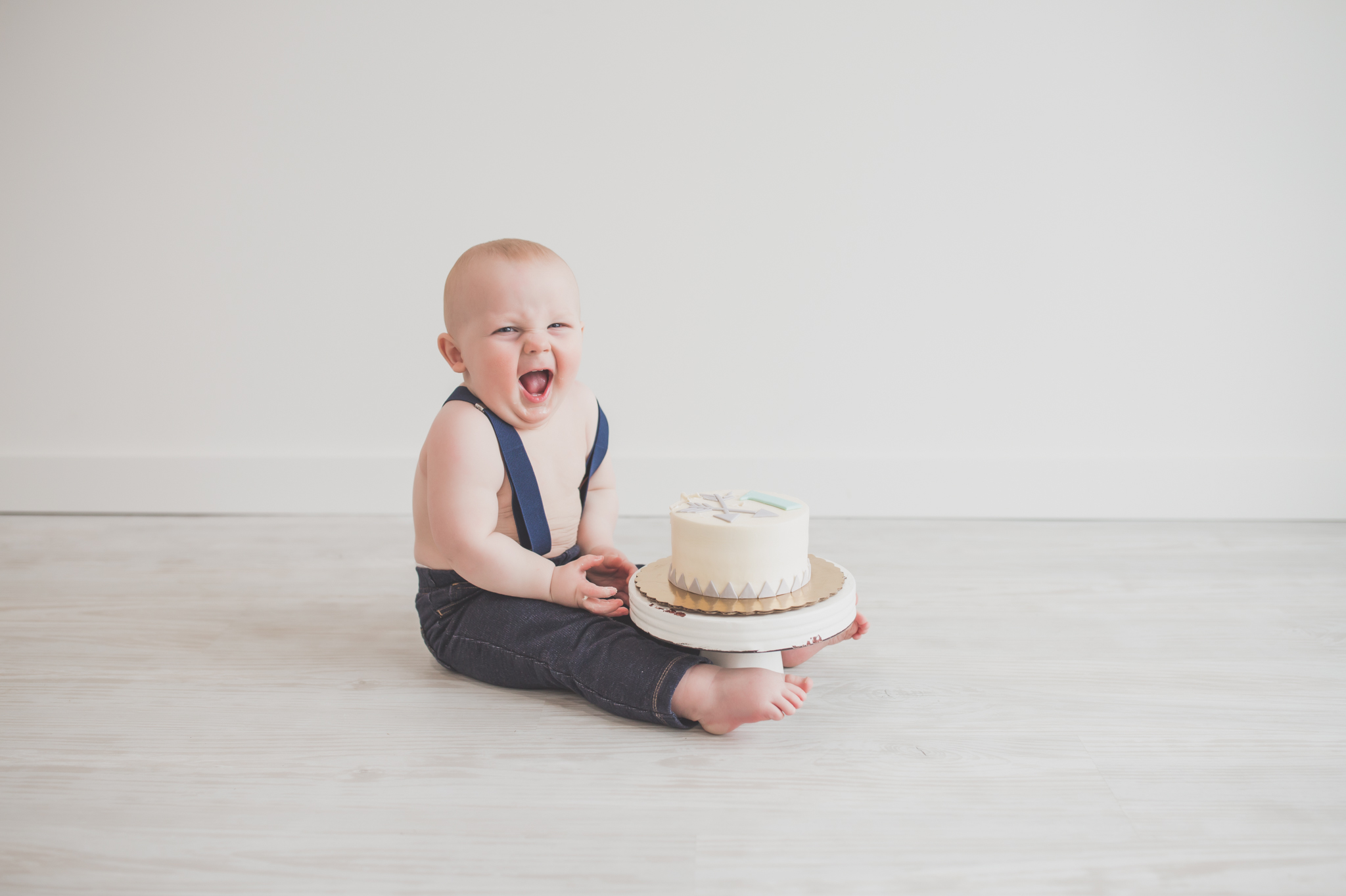Cade 1 Year Old Cake Smash Milestone Session Cara Peterson Photography Rockford IL -24.jpg