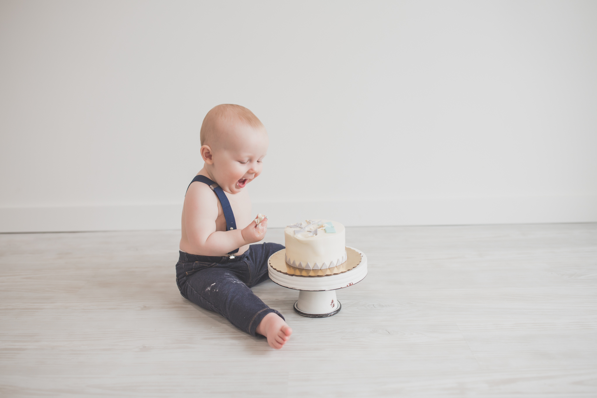 Cade 1 Year Old Cake Smash Milestone Session Cara Peterson Photography Rockford IL -27.jpg